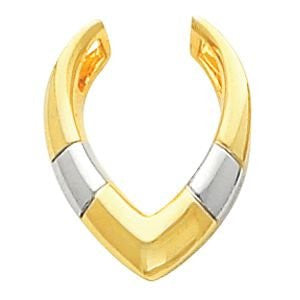 14k Two-Tone Gold Pendant Enhancer