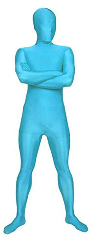 Seeksmile Unisex Full Body Lycra Spandex Zentai Catsuit (Large, Pac Blue)