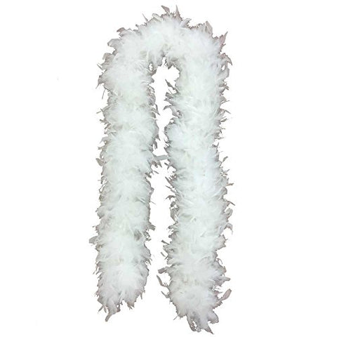 Jumbo Turkey Feather Boa (6' 150 grams) (White)