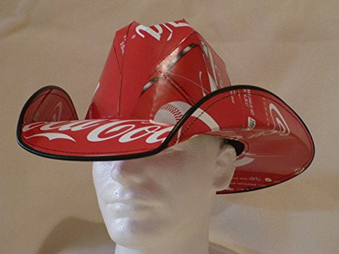 Soda Box Cowboy Hat Made from recycled Coke Coca Cola soda boxes