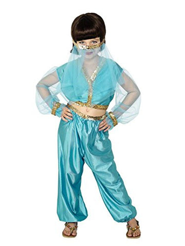 Star55 Big Boys' Belly r Arabian Princes Jasmine Genie Aladdin Fancy Dres Costume Medium 7-9 Years Blue