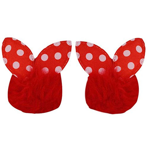 Maayra Kids Girls Rubber Bands Rabbit in Red for Partywear Pack of 2