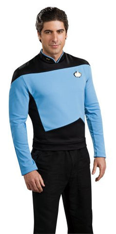 Star Trek the Next Generation Deluxe Blue Shirt, Adult Large Costume