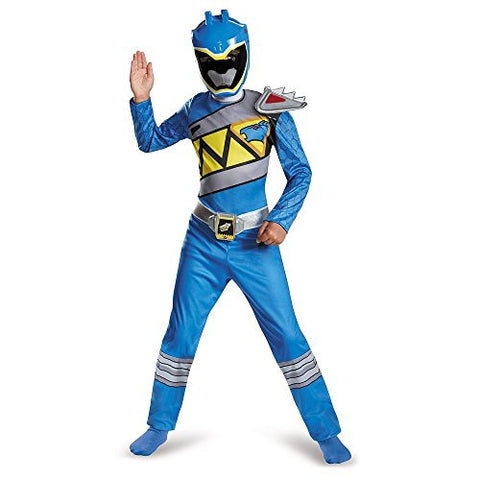 Disguise Blue Ranger Dino Charge Classic Costume, Large (10-12)