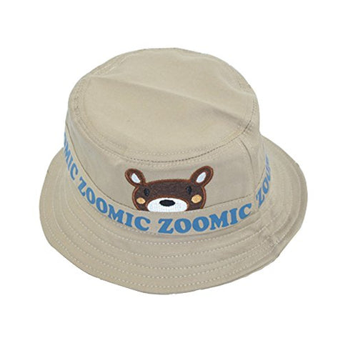 Embroidery Bear Bowl Cap Sun Hat Folding Fisherman Cap For 2-4 Years Kids Children Spring Summer Autumn Winter by PPOVEN