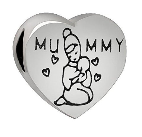 "Best Wing Jewelry ""Mummy"" Charm Bead for European Snake Chain Charm Bracelets"