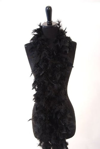 WGI 6' 40g Adult Feather Boa, Black