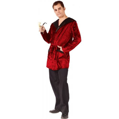 Adult Velvet Smoking Jacket (Plus Size)