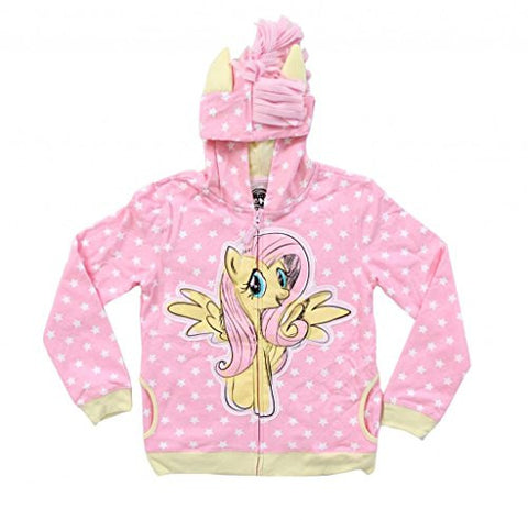 My Little Pony Fluttershy Stars Girls Pink Hoodie (Small)
