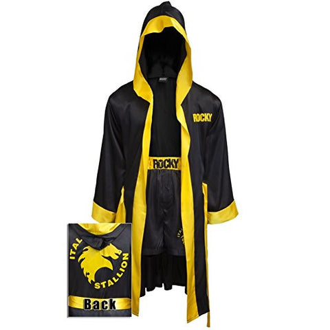 Rocky Balboa BLACK Movie italian Stallion Boxing Robe