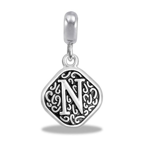 Davinci Beads Alphabet Letter Initial Charm Beads N