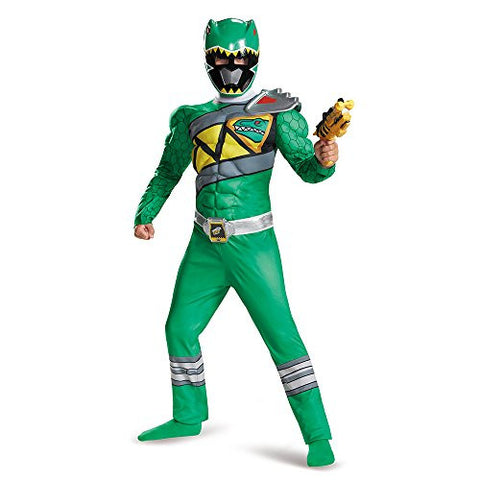 Disguise Green Ranger Dino Charge Classic Muscle Costume, Large (10-12)