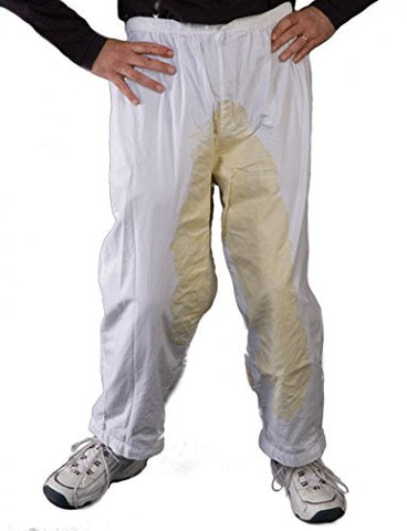 Zagone Goosh Pants, Gag, White Pants, Stains in Front & Back