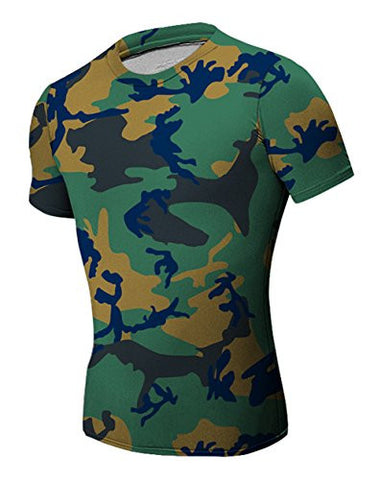 Tanming Men's Printing Camouflage T Shirts Tops (X-Small, C3)
