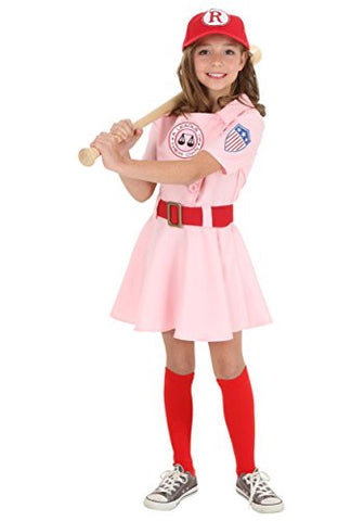 Fun Costumes girls Child A League of Their Own Dottie Costume Medium