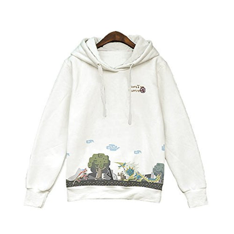 XCOSER Fashion MH Creative Printed Pullover Hoodie Sweatshirt M