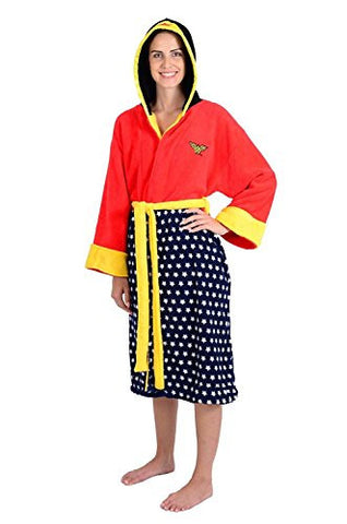 DC Comics Wonder Woman Adult Hooded Fleece Robe