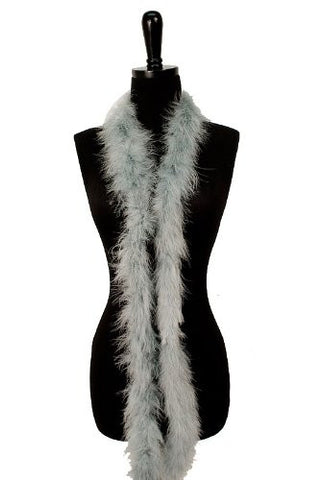 6' Adult Marabou Feather Boa - (2 boas), Grey