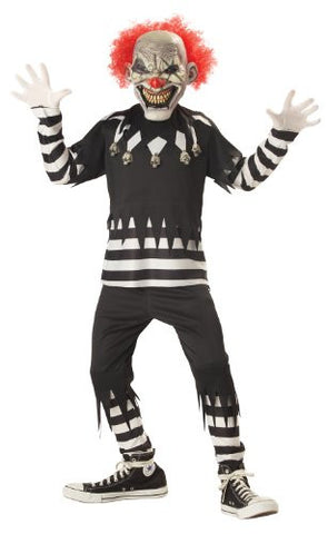 Creepy Clown Boy's Costume, X-Large, One Color