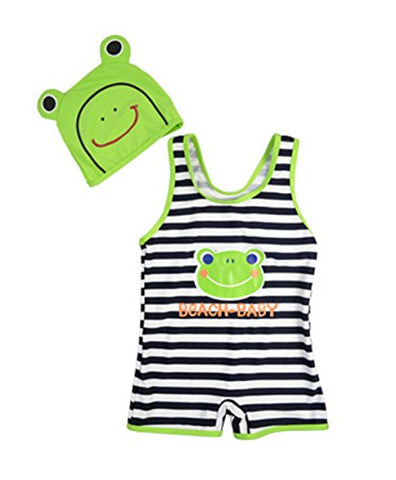 Newborn Baby Summer Cute Romper Bodysuit With Hat Frog S/ fit 2-3 years old