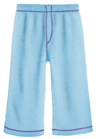 City Threads Big Girl Solid Thermal Pants Perfect for Sensitive Skins Sensory Sensitive SPD, Turqy w/ Purple, 12