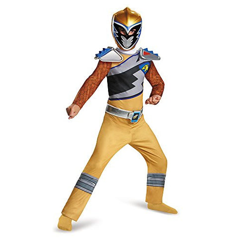 Disguise Gold Ranger Dino Charge Classic Costume, Large (10-12)