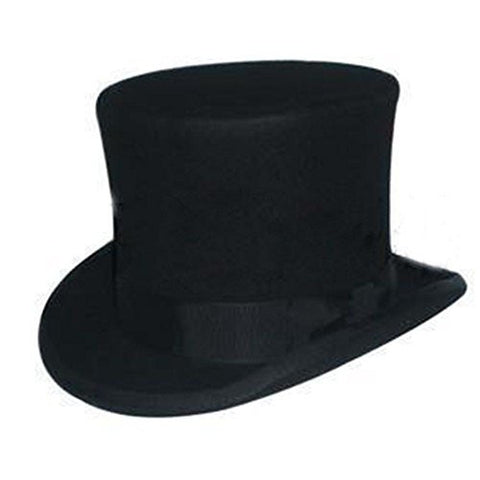 Song Qing 100% Wool Victorian Mad Hatter Top Hat Vivi Magic Hat Performing Cap