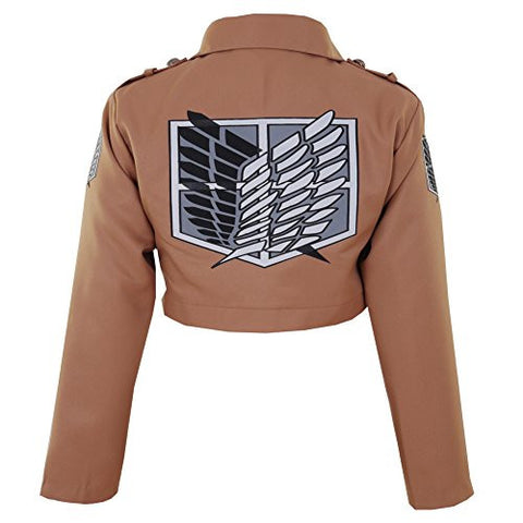 CG Costume Men's Attack on Titan Survey Corps Jacket Cosplay Costume XXLarge