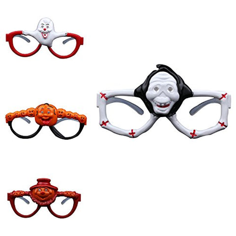 Halloween Cosplay Props 4 pcs Sound Glasses LED Light Halloween Color Flash Glasses