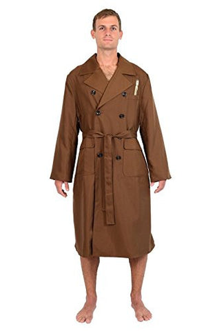 Doctor Who 10th Doctor Brown Trench Coat Jacket Styled Robe Multi One Size Fits Most