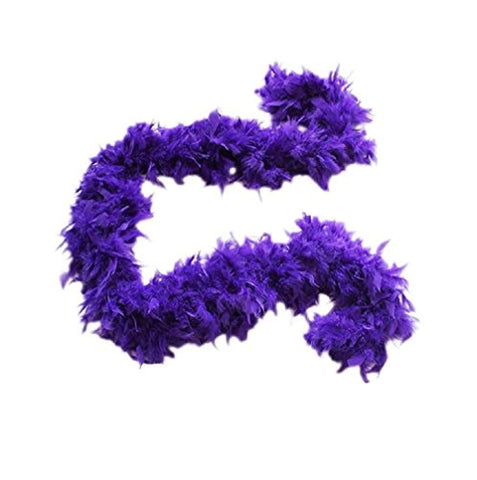 Purple Feather Boa Costume Accessory - 6'