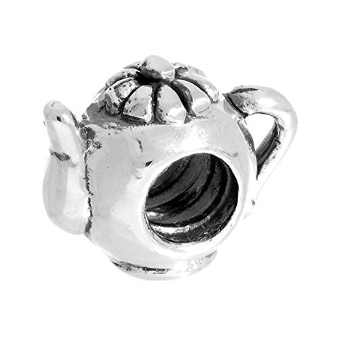 Sterling Silver Teapot Bead Charm