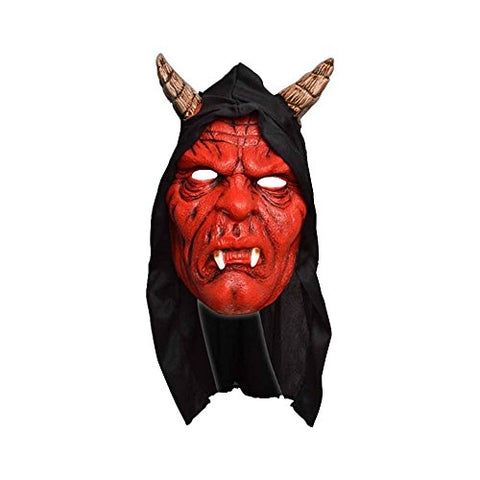 Scream Machine Hooded Devil Mask (One Size) (Red)