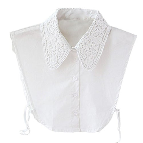 Outtop Women's Fake Collars Vintage Cotton Lace Half Shirt Dickey Blouse