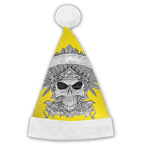 XinYunJL Skull Cool Tattoo Creative Christmas Hat Lightweigh For Family Woman