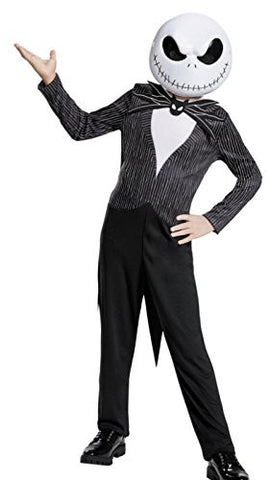 Disguise Jack Skellington Child Classic Nightmare Before Christmas Disney Costume, Medium/7-8