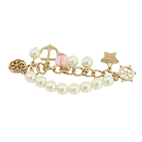 TrinketSea Women Chain Bracelets Fashion Jewelry Star Acrylic Pearl Hollow