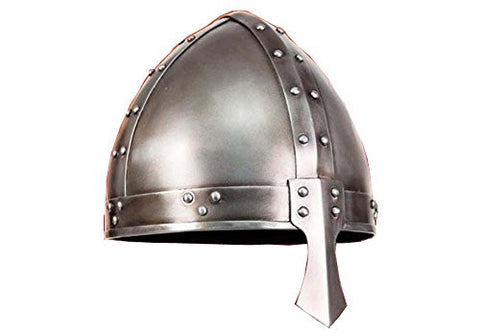 Norman Spangenhelm Helmet Wearable - Medieval Armor Metallic One Size By Nauticalmart