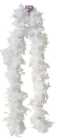 "Rhode Island Novelty Dozen White 72"" Feather Boas 20's Show Girl Cabaret Dancer Costume Accessory"