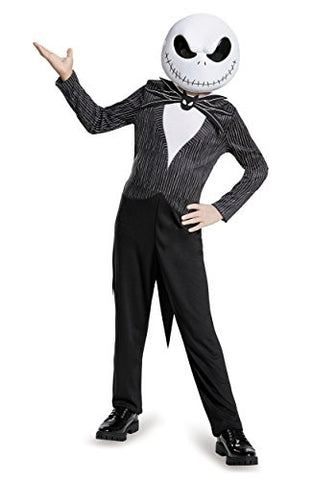 Disguise Jack Skellington Child Classic Nightmare Before Christmas Disney Costume, Large/10-12