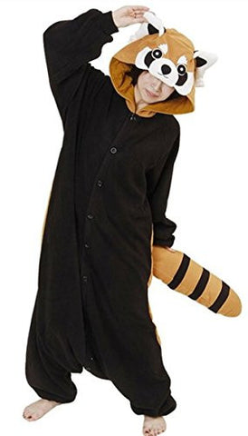 Rnmomo Unisex-adult Kigurumi Onesie Red Panda Pajamas (XL: 182 - 190cm (5.9' - 6.3') height),XL: 182 - 190cm (5.9' - 6.3') height