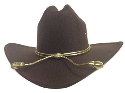 King County Sheriff Hat Brown Lined Cowboy Western Gold Cord LG/XL Zombie Hunter