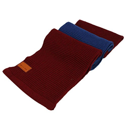 Toddler Baby Unisex Winter Warm Scarf Boy Girl kids Solid Knitted O Ring Neck Scarves Vovotrade (Wine)
