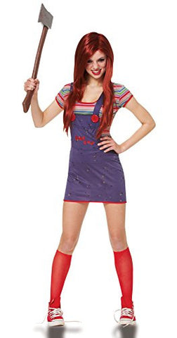 Costume Culture Women's Licensed Sassy Chucky Teen Costume, Blue, X-Small