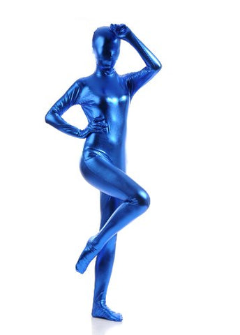 Speerise Adults Spandex Full Bodysuit Zentai Costume, Gold, XS