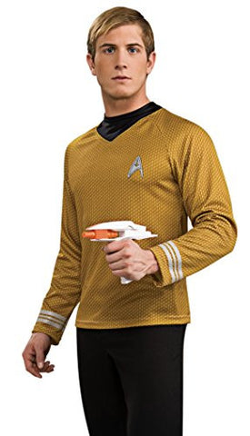 Rubie's Costume Star Trek Into Darkness Deluxe Captain Kirk Shirt With Emblem, Gold, Small Costume