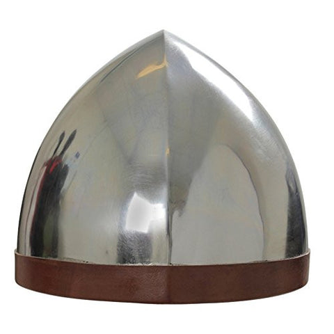 Armor Venue: Medieval Ready For Battle Steel Helmet Head Armour Silver One Size