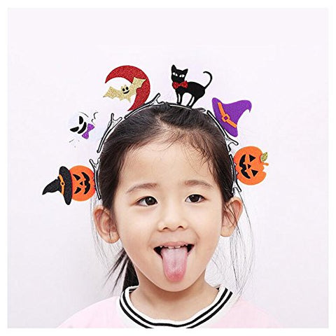 Halloween Children Hair Clip Bat Pumpkin Ghost Party Hairpin Dress up Accessories 6pcs