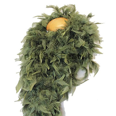 "Cynthia's Feathers 80g 72"" Turkey Chandelle Feather Boas over 30 Color & Patterns (Olive Green)"