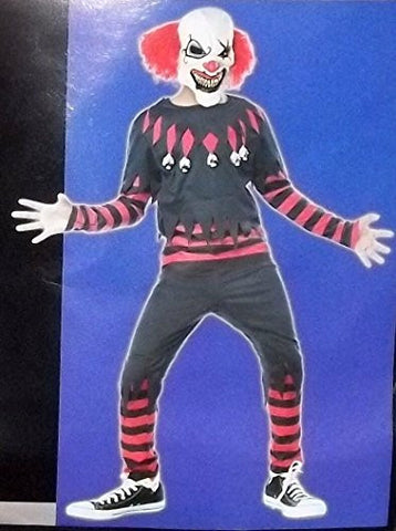 Totally Ghoul Creepy Clown Costume, Size: Boys X-large, Ages 8-14